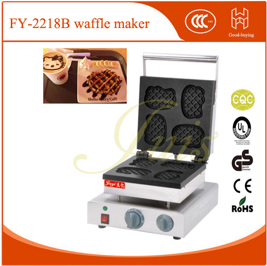 New!Non-Stick Dubai Restaurant lolly muffin machine baker cake cafe shop hello kitty waffle maker