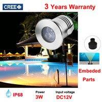 Low Voltage Outdoor LED Landscape Lighting 12V 3W IP68 Waterproof LED Underwater Pond Light Lamp Swimming