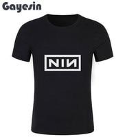 Nine Inch Nails Men T Shirt Casual O Neck Short Sleeve American Industrial Rock Band Fashion