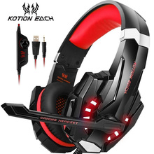 KOTION EACH G9000 Stereo Gaming Headset Noise Cancelling Over Ear Headphones with Mic LED Light for PS4 PC Xbox One Controller цена