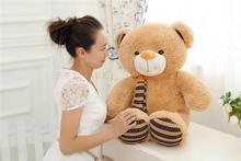 new lovely plush teddy bear toy cute scarf teddy bear doll gift about 80cm