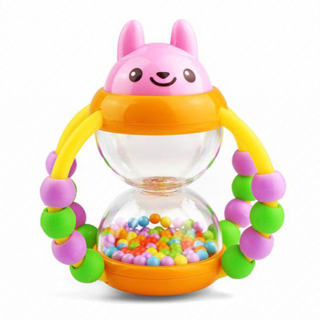 Flower Crib Push Bed Bell Baby Rattle Balls Bracket Projecting Toys for 0-12 Months Newborn Kids Christmas gift HT3851