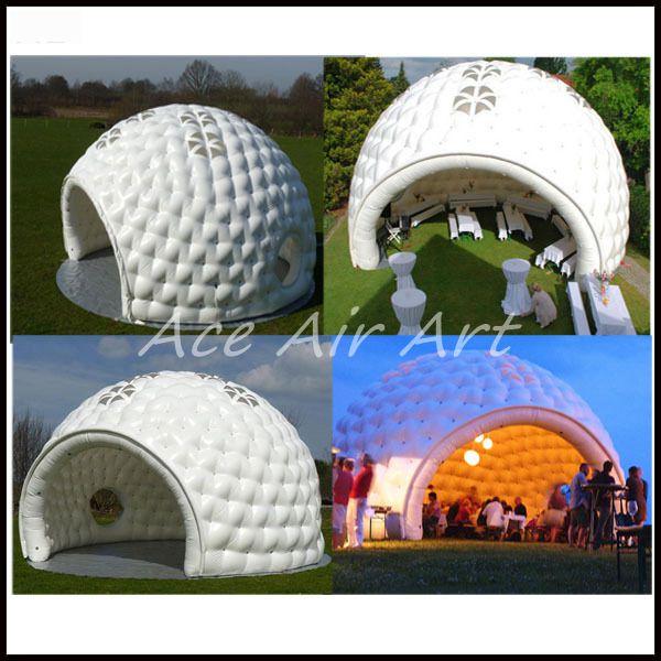 Tente gonflable de dôme d\'igloo de couleur blanche/tente de jardin ...
