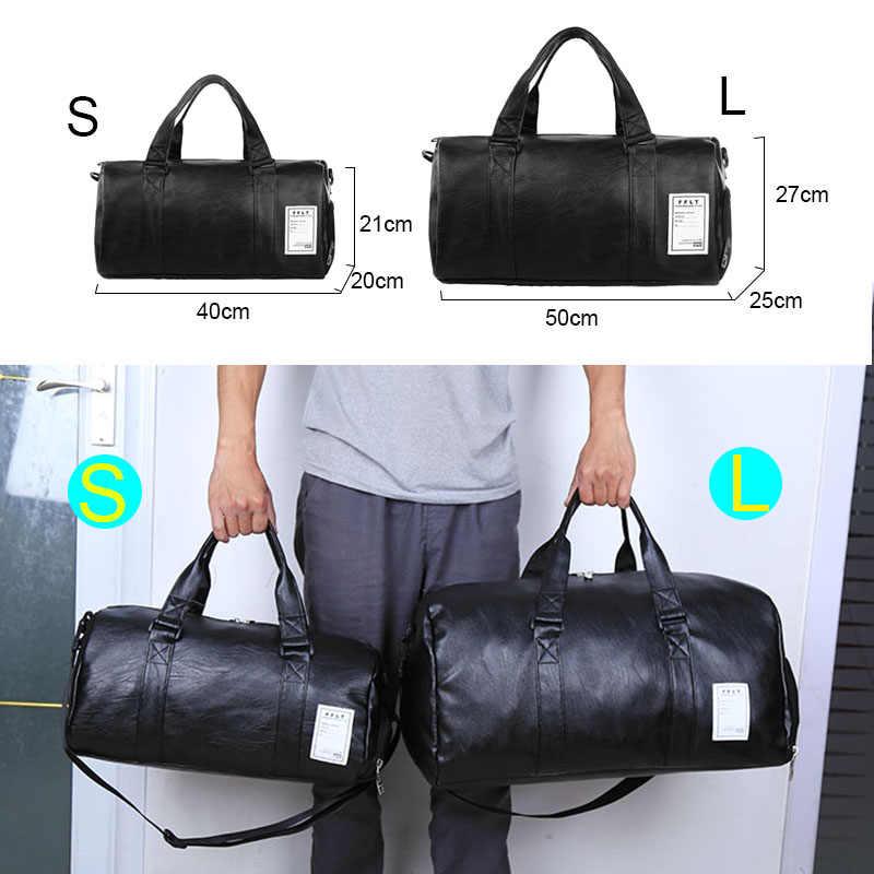 69656ae2349b ... 2019 спортивные сумки кожаные спортивные сумки для фитнеса  тренировочные женские мужские туфли Sac De Sport Gymtas ...