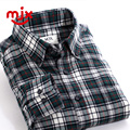 Men Shirt Camisa Masculina Long Sleeve Shirt Camisa Social Plaid Shirt Cotton Casual Brushed Big Size Men Clothing New 2017