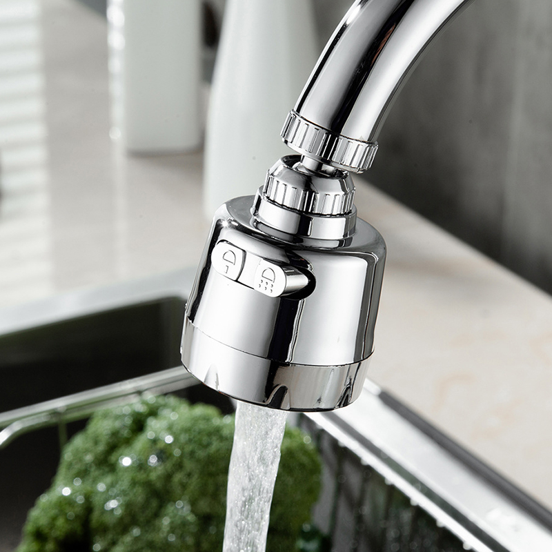 360 Degree Water Tap Splash Filter Diffuser 3 Modes Adjustable Kitchen Tap Nozzle Rotatable Kitchen Faucet Aerator Spray Head