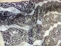 2018 New Whit/black 8mm lace print 100% pure real Mulberry natural silks fabric silk chiffon fabric for party dress/shirt Scarf