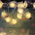 10M 100 LED lamp Rose Flower Christmas String Lights for outdoor/Home Garden Wedding party/patio Garland Decoration Fairy Lights