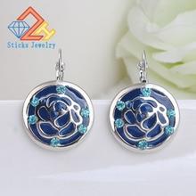(1 Pair / Lot) 100% Environmentally Friendly Material Blue Earrings