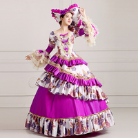 FREE SHIPPING S 2XL 18th Century Rococo Marie Antoinette Dress Colonial Georgian For Authentic Cosplay Costume