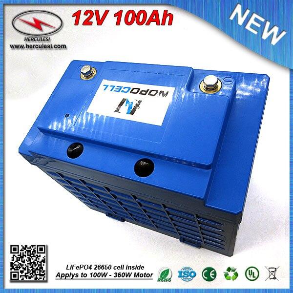Deep Cycle Lifepo4 12v 100ah Solar Energy Systems Battery
