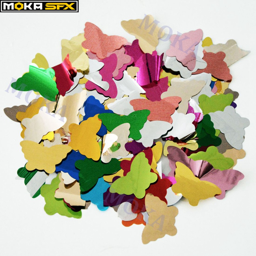 2kg/lot colorful paper star butterfly confetti paper for stage effect confetti cannon Wedding Birthd