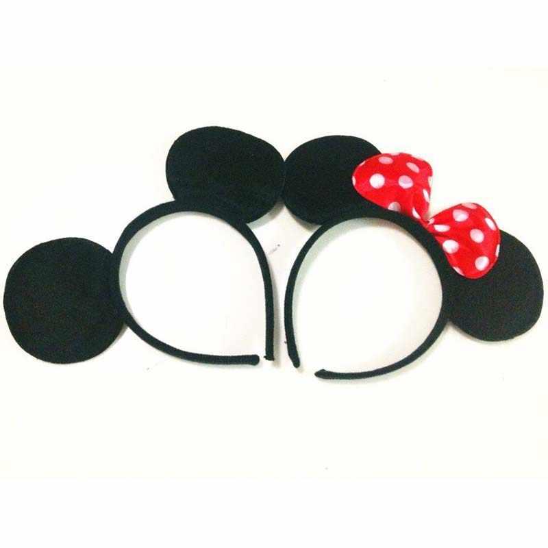 10 pz Ragazze Del Bambino Mickey & Minnie Fasce Bambini Accessori Dei Capelli Festa di Compleanno Prua Nodi Bambini Ragazzi Signora Hairbands Natale
