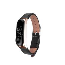 Skórzany pasek do Xiaomi Mi Band 3 4 5 kolory czarny różowe złoto rose gold bransoleta do Smartwatch tanie tanio DKPLNT CN (pochodzenie) Pasek na nadgarstek english Dla dorosłych 6 7in-7 9in(17cm-20cm) mi band 3 strap xiaomi mi bad 3 strap