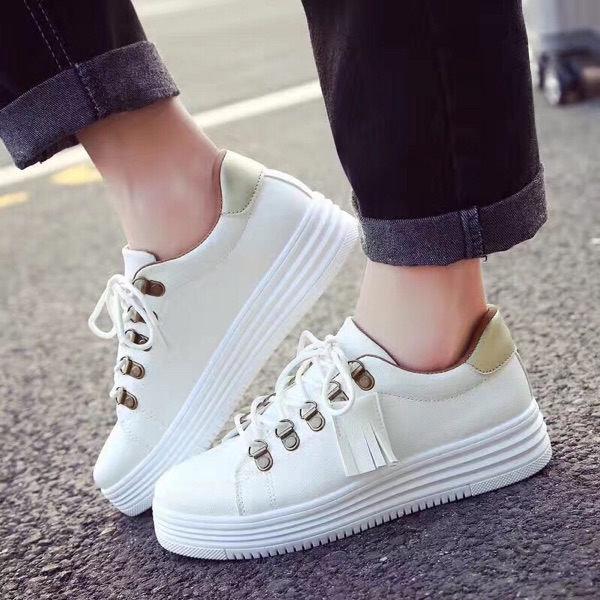 Round Toe Tassel Shoes Women PU Leather