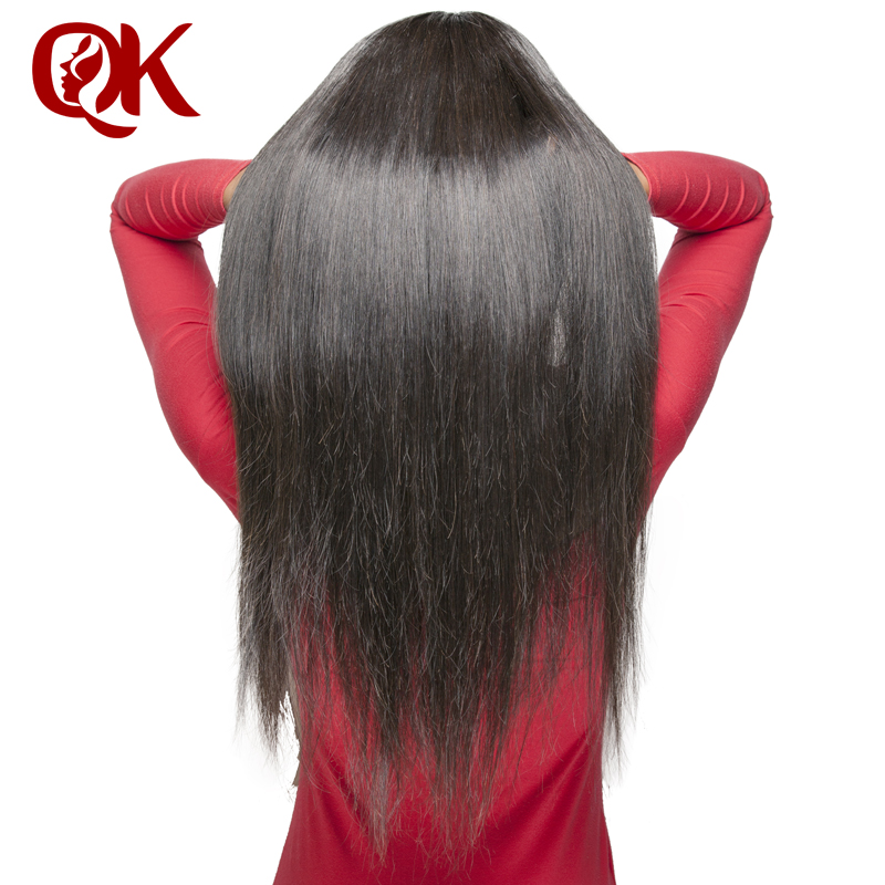 QueenKing hair 250% Density Lace Front human hair Wigs for Black Women Natural Color Silky Straight  Brazilian Remy Hair