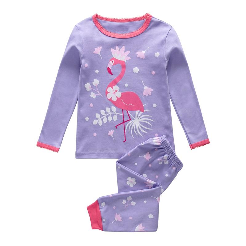 SAILEROAD Children Flamingo Pajamas Set Girls Unicorn Pajamas Pijama Infantil Kids Pyjamas Sleepwear Child Clothes Summer Autumn