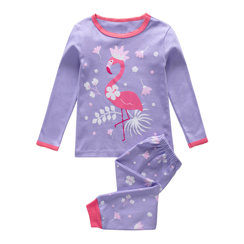 SAILEROAD Children Flamingo   Pajamas     Set   Girls Unicorn   Pajamas   Pijama Infantil Kids Pyjamas Sleepwear Child Clothes Summer Autumn
