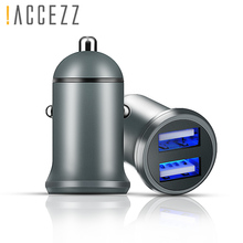 !ACCEZZ Double USB Car Charging Fast Charge 4.5A For Huawei 4A Charger OPPO Oneplus 2A Universal Phone Xiaomi iphone XS