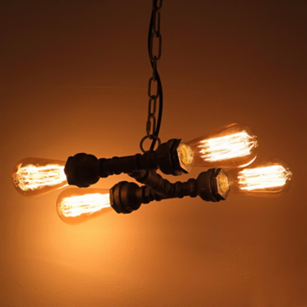E27 Edison Bulb Vintage Industrial Pendant Light Loft Style Lights Creative Nordic Retro Lamp Dining Living Room Pendant Lamp vintage nordic retro edison bulb light chandelier loft antique adjustable diy e27 art spider pendant lamp home lighting
