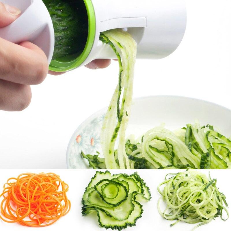 Vegetable Spiralizer Kitchen Gadgets Fruit Cutter Carrot Shred Grater Spiral Slicer Shredders Peeler Cooking Tools#*