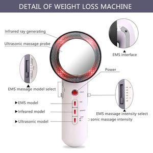 Image 5 - EMS 바디 슬리밍 마사지 체중 감소 안티 셀룰 라이트 지방 버너 갈바니 스파 적외선 초음파 Cavitation 치료