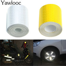 Yawlooc 3mX5cm Fluorescence Pure Yellow Reflective Car Truck Motorcycle Sticker Safety Warning Signs Conspicuity Tape Roll