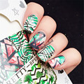 BORN PRETTY Green Leaf Watermark Sticker Decals Pretty Manicure 2 Patterns/Sheet Nail Transfer Sticker BPY31