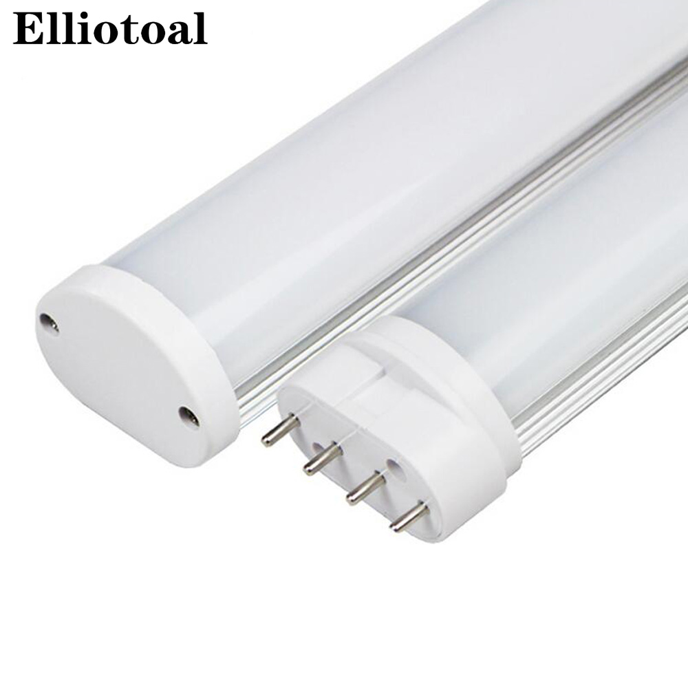 led 2g11 tube 4pin linestra PL lamp 220V dimmable Milky white 10w 225mm 12w 320mm 15w 410mm 22w 535mm replace halogen AC85--265V 9w 10w smd led pl tube pl energy savin lamp 850lm ac100 240v clear