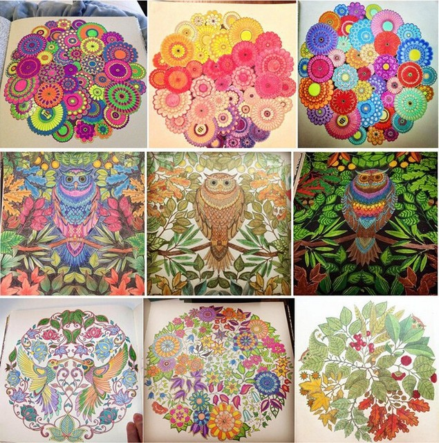 Free Shipping Secret Garden ENGLISH Coloring Book For Children And Adult Relieve Stress Kill Time Graffiti Painting Drawing