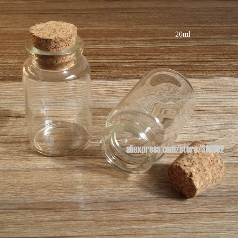 Ml Glass Bottle With Cork Stopper