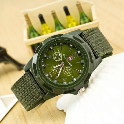 Offre spéciale nouveau genève décontracté hommes armée soldat militaire montre hommes classique multicolore toile bracelet numérique Quartz montre Chasy