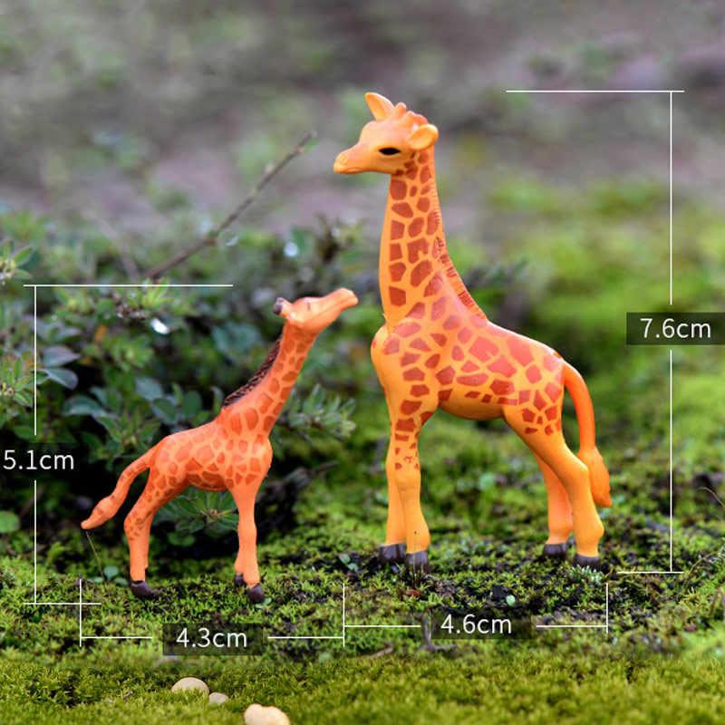 1PC di Modo di Statuette In Resina Miniature Animale Cervo Carino Cavallo del Mestiere Owls Panda Maiale Decorazione Della Casa Giardino Ornamento