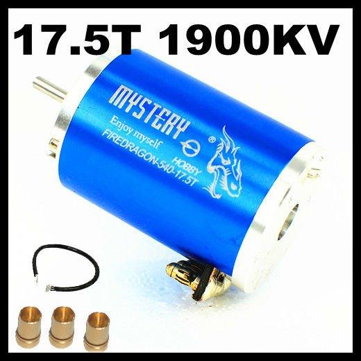 Mystery Fire Dragon 3 Chase 2 Poles 17.5T 1900KV HL540-3650 3G2P Sensored Brushless Motor For 1/10 1/12 RC Car