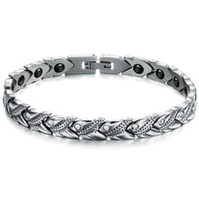 Fashion Unisex Jewelry New Personality Energy Balance Bracelet Trendy Magnet Stone 20cm Health Care Cubic Zirconia