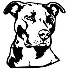popular pit bull stickers buy cheap pit bull stickers lots from Pitbull Puppies 14 15 2cm pit bull face vinyl decal car styling animal decoration accessories classic personality stickers c6 1740