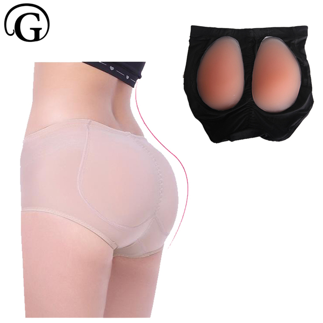 6751cd28e PRAYGER Women removable Silicone Insert Panties Fake Ass Lift Butt Padded  Shaper Soft Enhancer Underwear