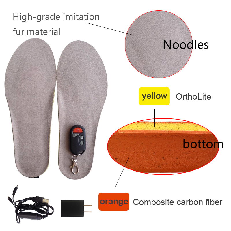 NEW heating insoles with remote control winter woman insoles boots insoles outdoor insole keep feet warm