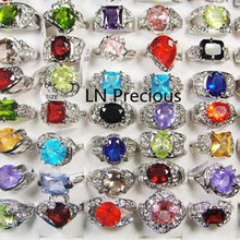 10 шт классические кольца с серебряным покрытием из горного