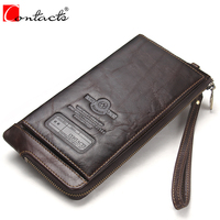 CONTACT S New Genuine Leather Men S Bag Classical Vintage Style Men Wallets Fashion Brand Purses