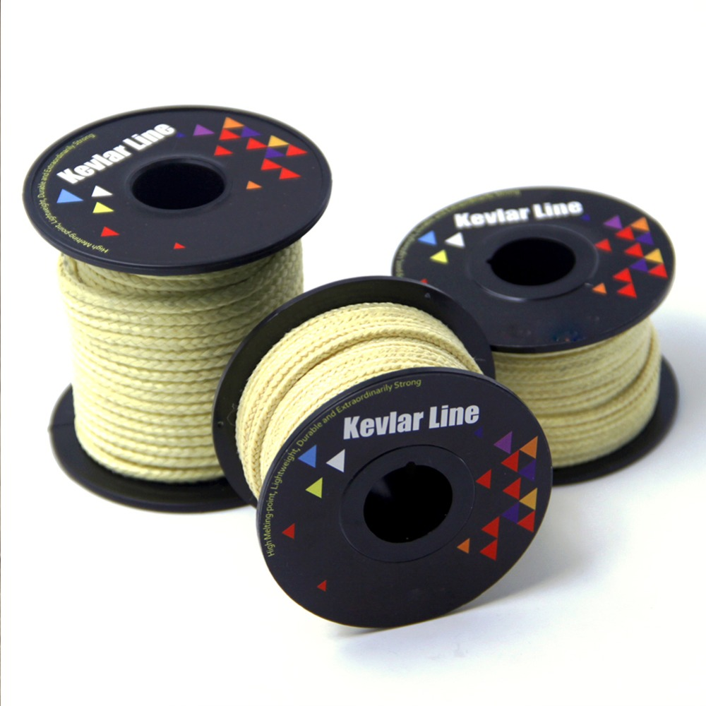 Yellow Braided Line for Fishing 100-<font><b>2000lb</b></font> Kevlar Fishing Assistant Cord Kite String Outdoor Backpacking Camping Rope image