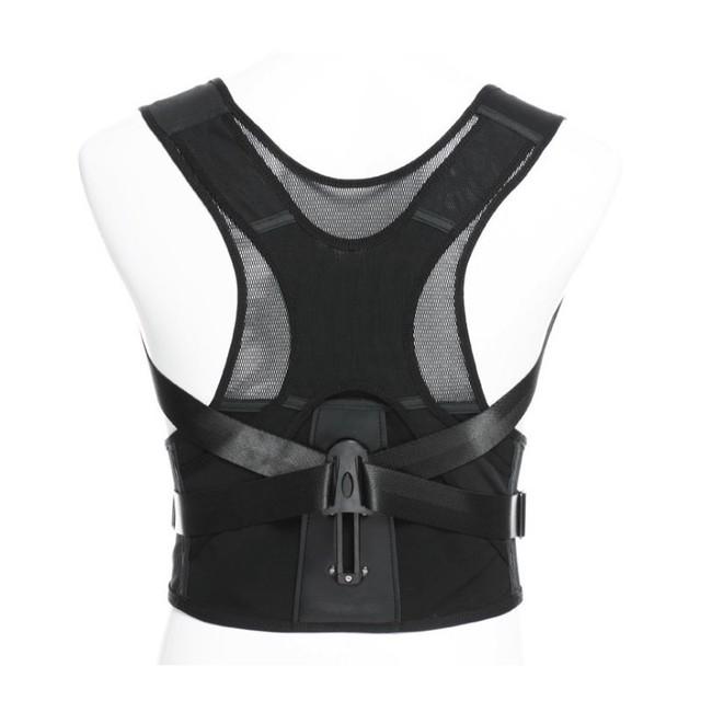 6 tamaño unisex ajustable vertebral volver correa de soporte corrector de postura brace hombro cintura for child and adulto s-xxxl