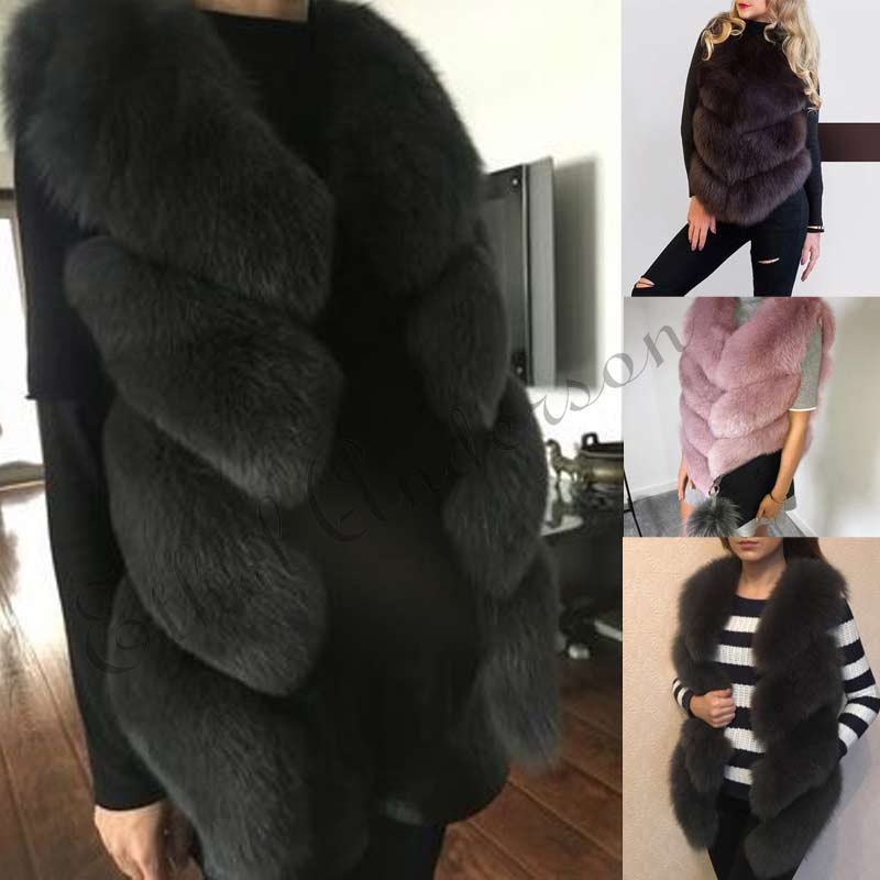 ETHEL ANDERSON Lady 100% Natural Whole Real Fox Fur Gilet Vests Women's Real Fur Waistcoat Winter Thick Warm Girl Fur Vest