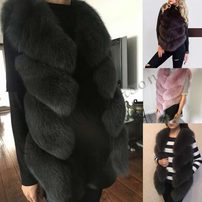 ETHEL ANDERSON Senhora 100% Natural Whole Real Fox Fur Gilet Coletes Colete De Pele Verdadeira das Mulheres Grossas de Inverno Quente Menina colete de pele