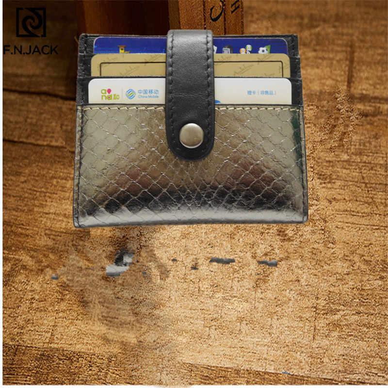 F. N. JACK Новые короткие женские карманные кошельки картон из натуральной кожи модные супер мягкие тонкие крафт-карточка кошелек женский набор сумка 2019