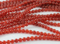 High Quality 100% Natural Red Carnelian Agate Onyx  AA 4,6, 8,10 ,12mm. Smooth Round Natural Stone Beads For jewelry 1string