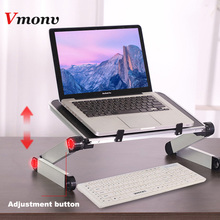 Vmonv 360 Portatile Pieghevole Letto Scrivania Table Stand Ergonomico Notebook Supporto laptop Supporto per 11 17 Pollici Lenovo Dell Acer macbook