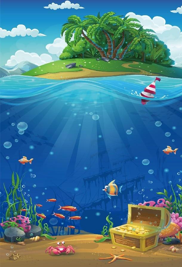 Background Laut Kartun : background, kartun, Ocean, Underwater, Coral, Castle, Shower, Children, Birthday, Party, Backdrop, Photography, Background, Photo, Studio, Price, .63, Aliexpress.com, Imall.com