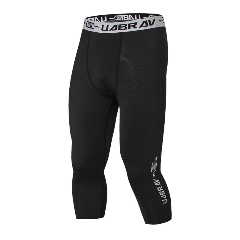 Men Compression Tights Black Pants Jogger Fitness Exercise Basketball Long Trousers Male Quick Dry Gym Exercise Running Pants