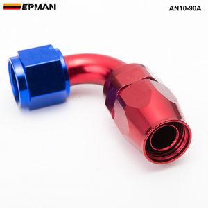 Image 3 - 10pcs /set 90Degree High Performance AN10 Hose End Fitting Aluminum oil cooler hose fitting  AN10 90A
